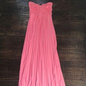 Sky Pink Strapless Maxi Dress